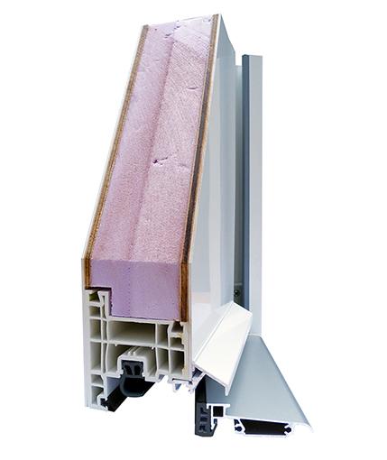 coupe de présentation d'une porte PVC pricéA