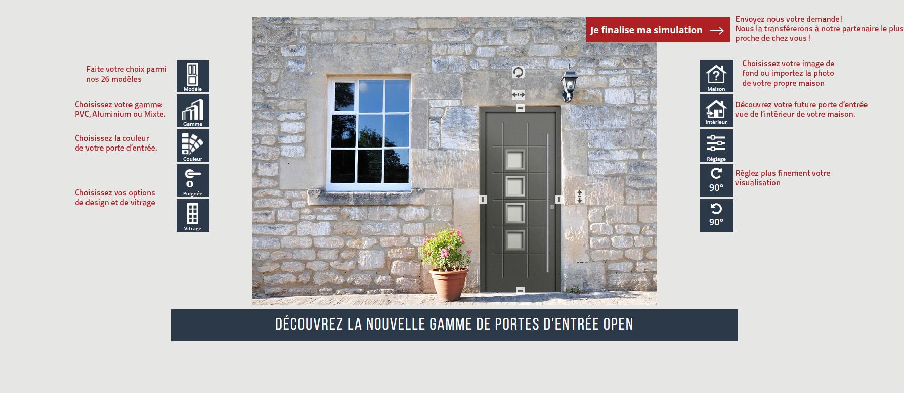 Simulateur De Portes Dentrée Open Fenêtréa Spécialiste Français